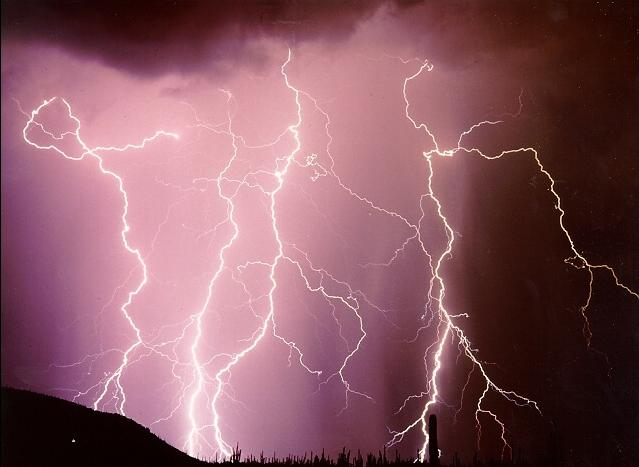 Lightning over Tucson (NOAA picture)