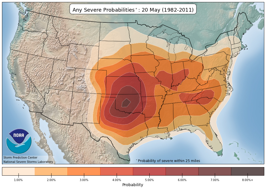 NOAANWS Storm Prediction Center - Us severe weather alert and tornado warning map