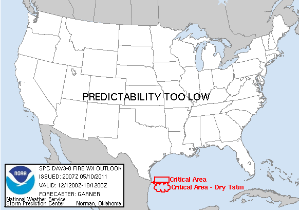 SPC Day 3-8 Fire Outlook