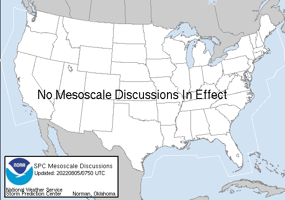 Current SPC MesoScale Discussions.