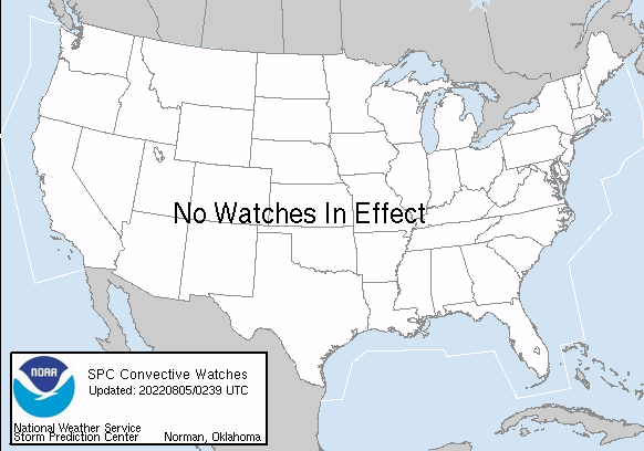 Storm Prediction Center Watches In Effect