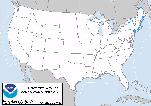 Storm Prediction Center (SPC) Watches In Effect