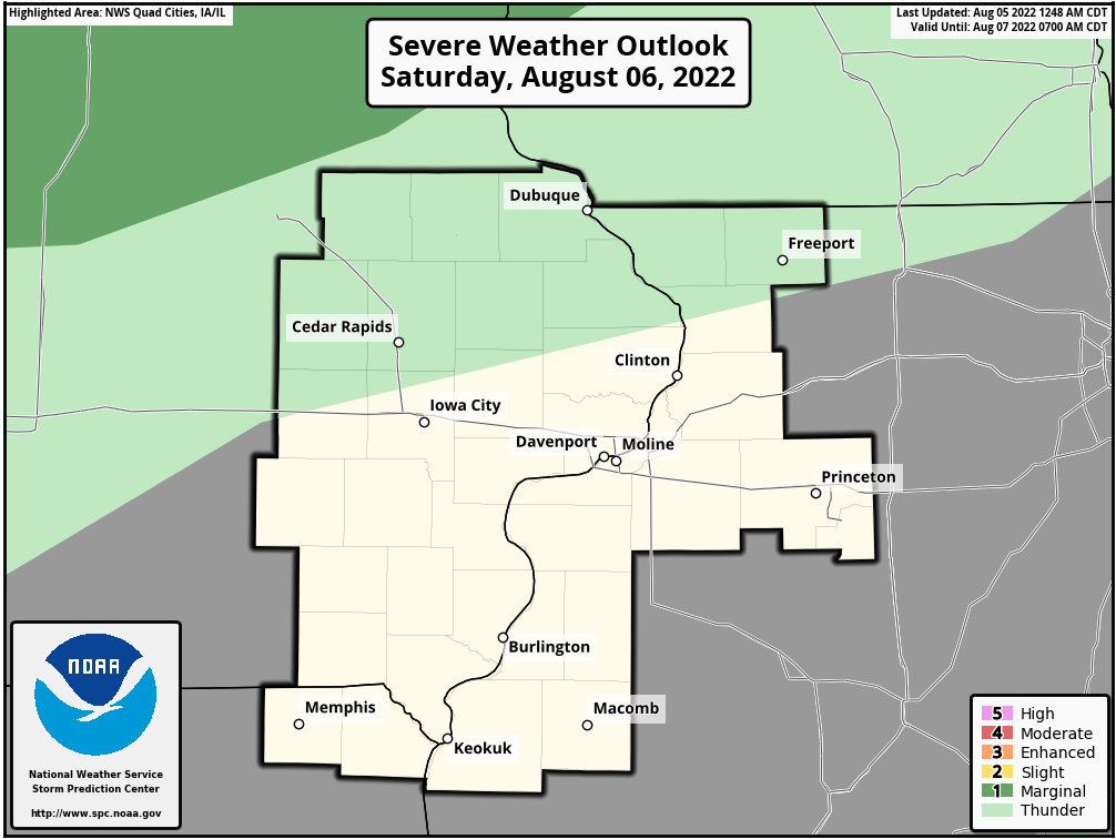Day 2 Severe Weather Outlook, Quad Cities, Iowa National Weather Service Area