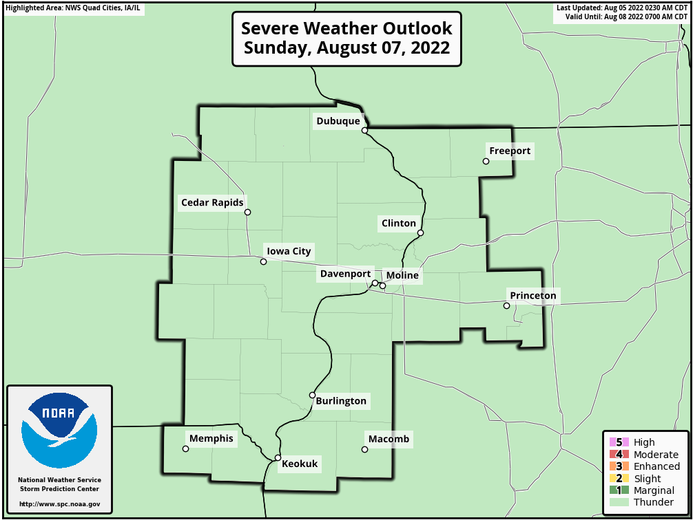 Day 3 Severe Weather Outlook, Quad Cities, Iowa National Weather Service Area