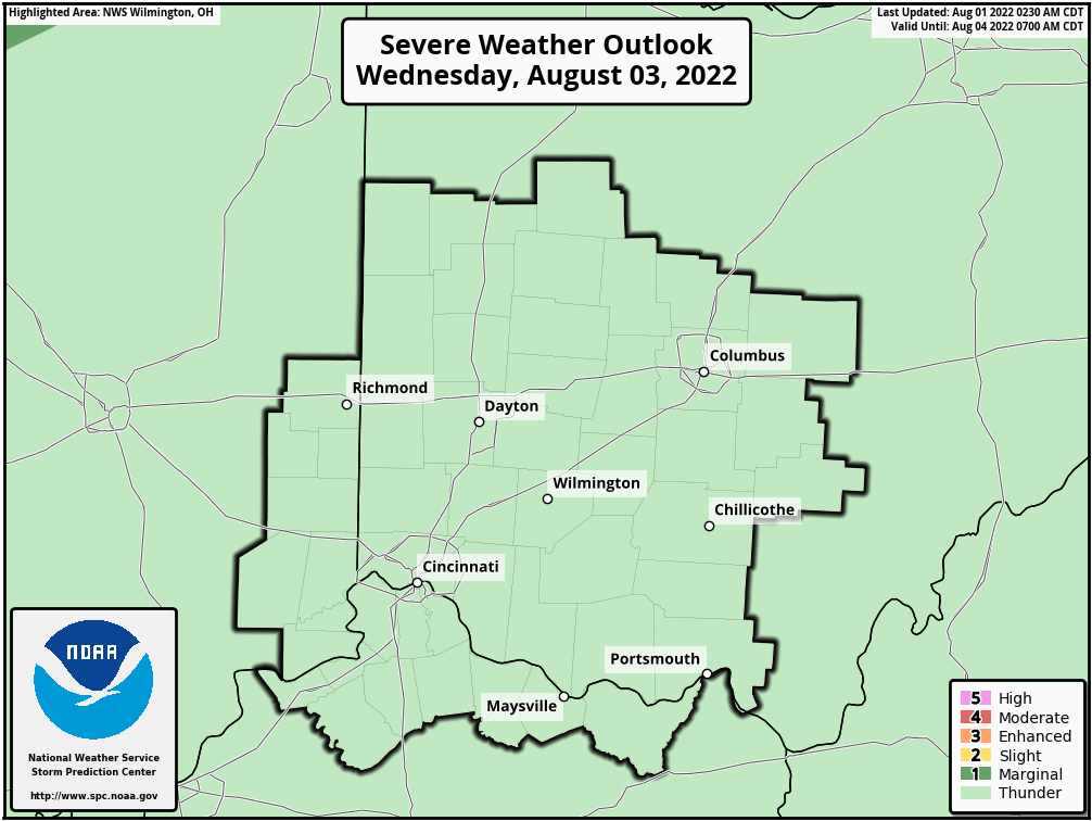 Day 3 ILN Severe Weather Outlook