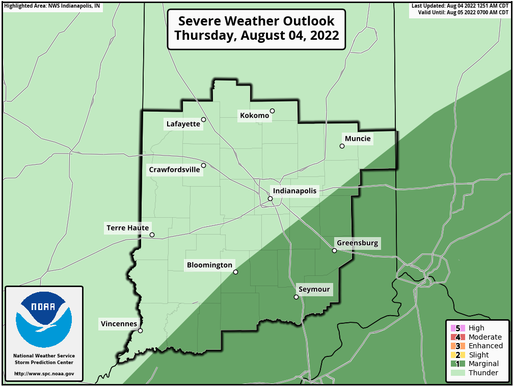 SPC Day 1 Outlook - Central Indiana