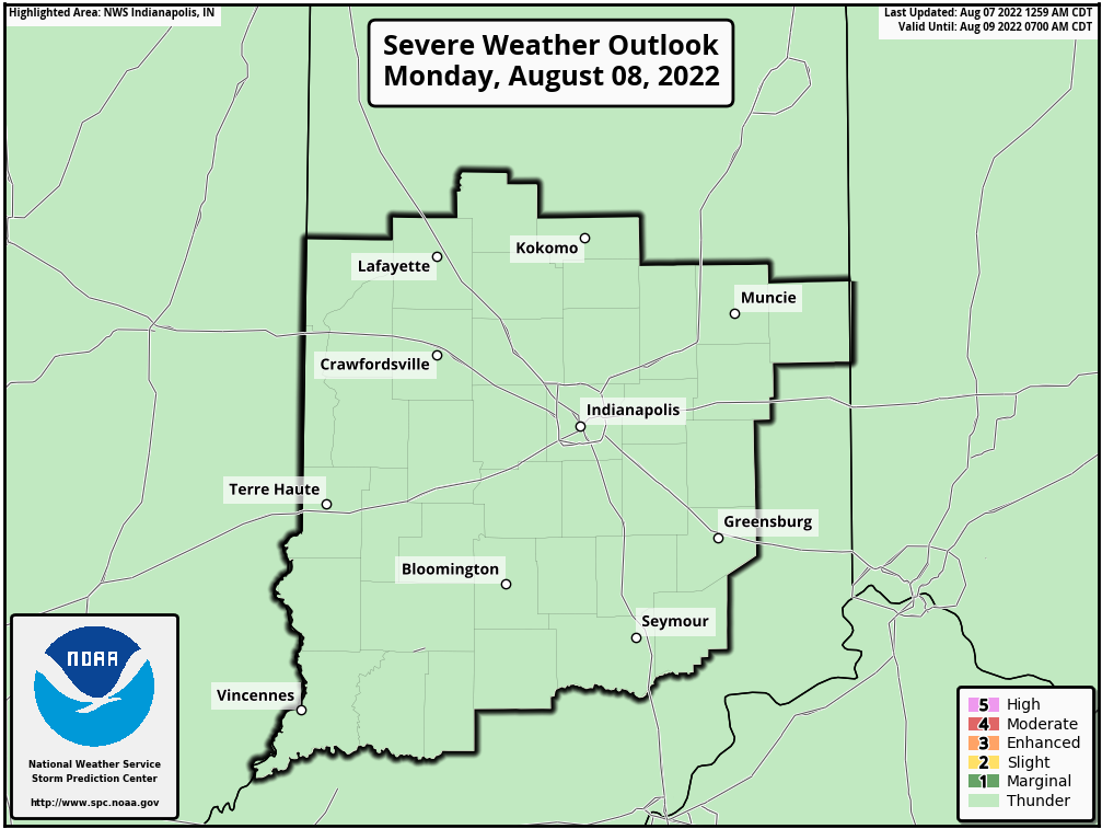 SPC Day 2 Outlook -Central Indiana