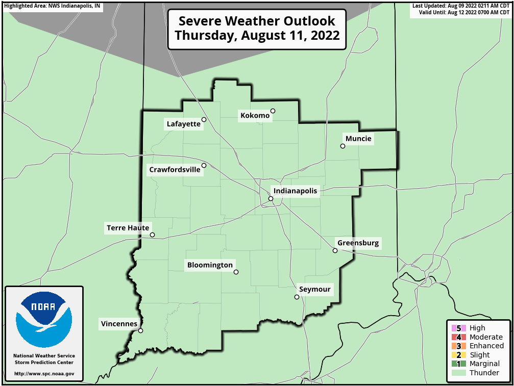SPC Day 3 Outlook -  Central Indiana