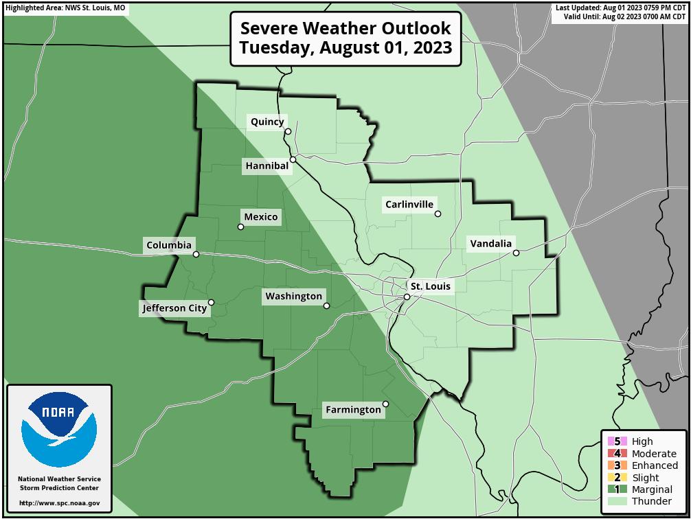 Saint Louis Region Severe Weather Outlooks – St Louis Metro