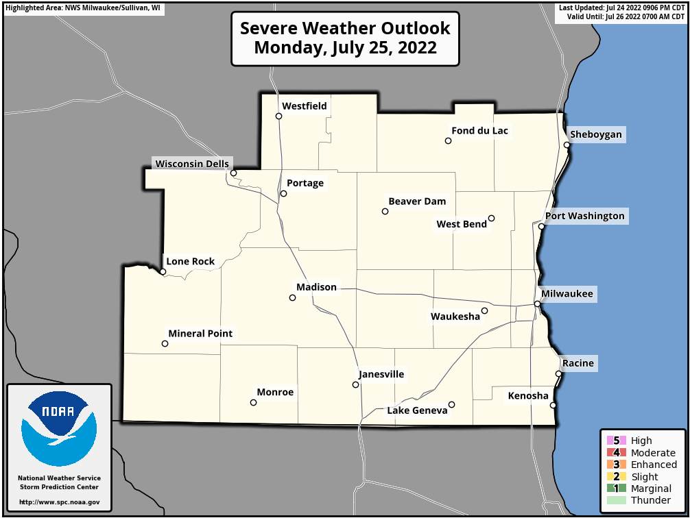 Day 1 NWS Milwaukee Area Outlook