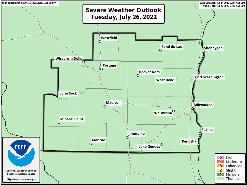 Nws Milwaukee Severe Weather Outlook