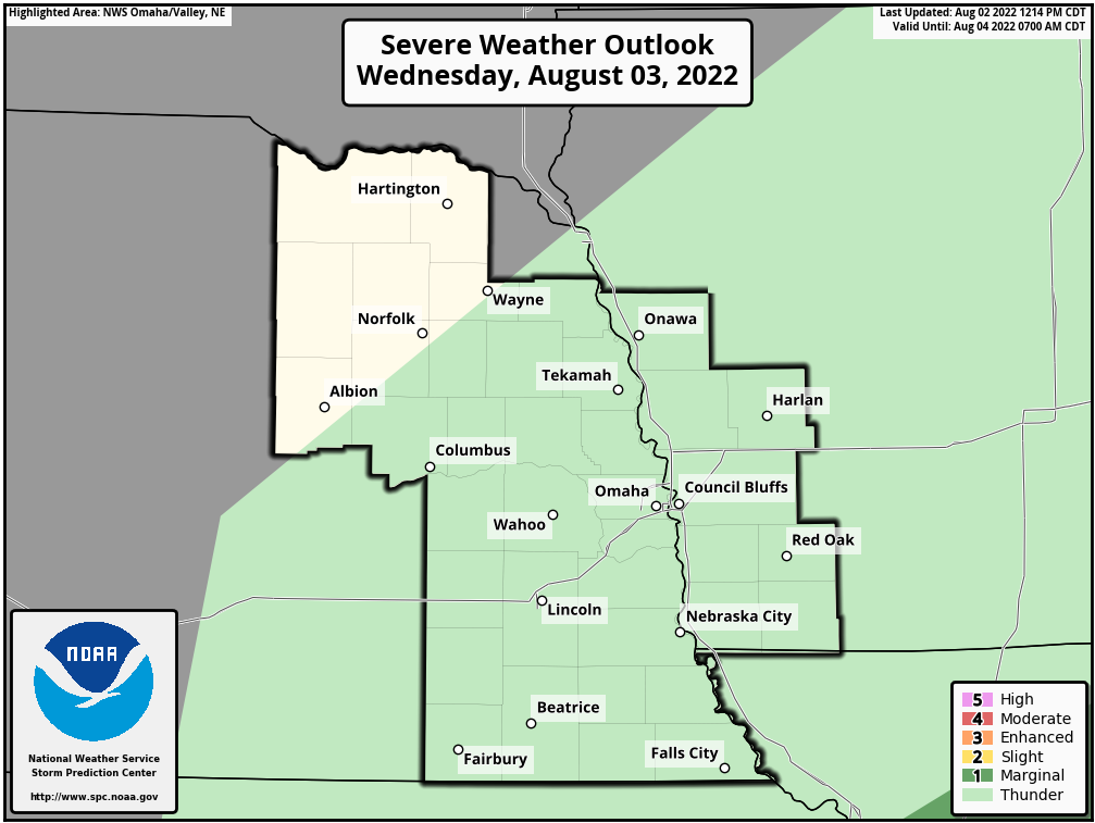 Day 2 Severe Weather Outlook, Omaha, Nebraska National Weather Service Area