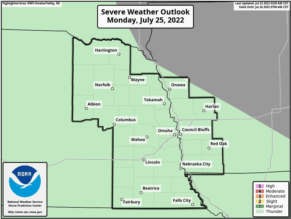 Day 3 Severe Weather Outlook, Omaha, Nebraska National Weather Service Area