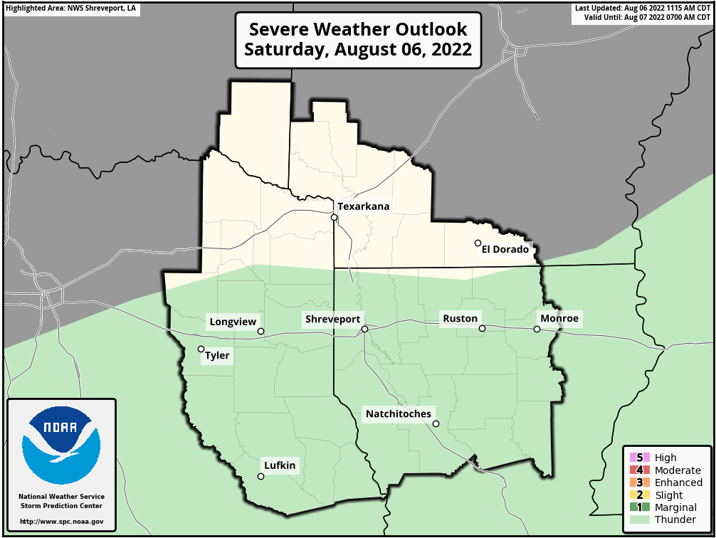 SPC Day 1 Severe Weather Outlook