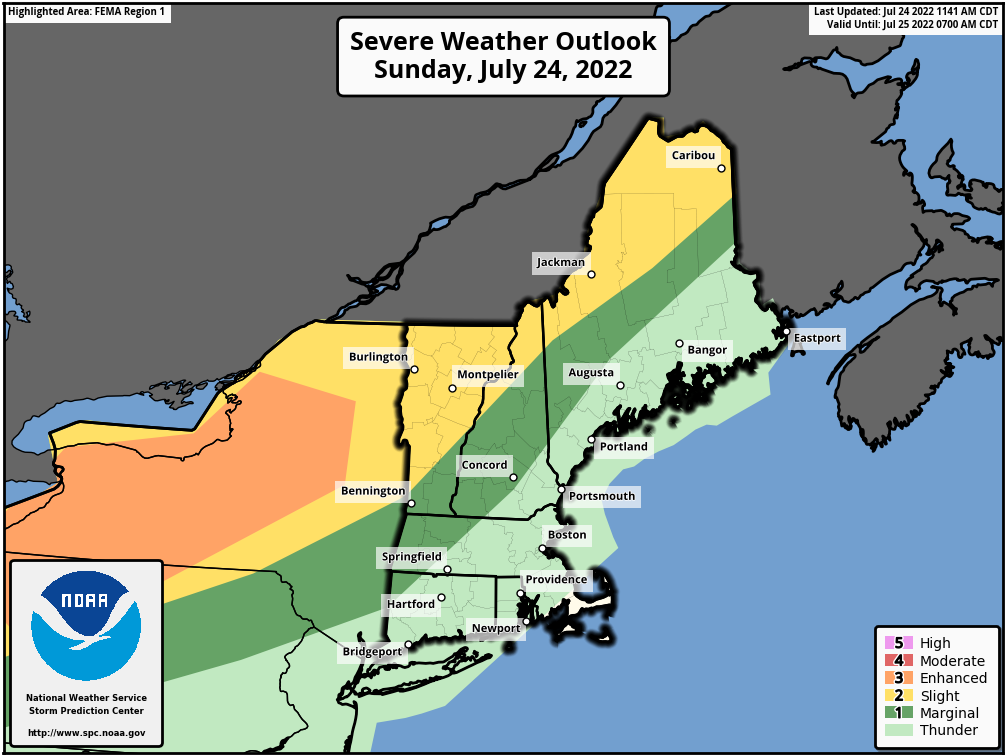 Southern New England Weather Page » Crown Weather Services - Your