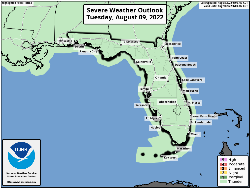 Florida Severe Weather Outlook - Day 2