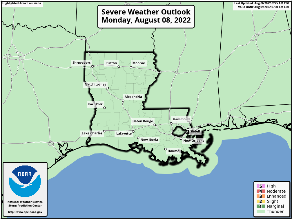 Louisiana Severe Weather Outlook - Day 3