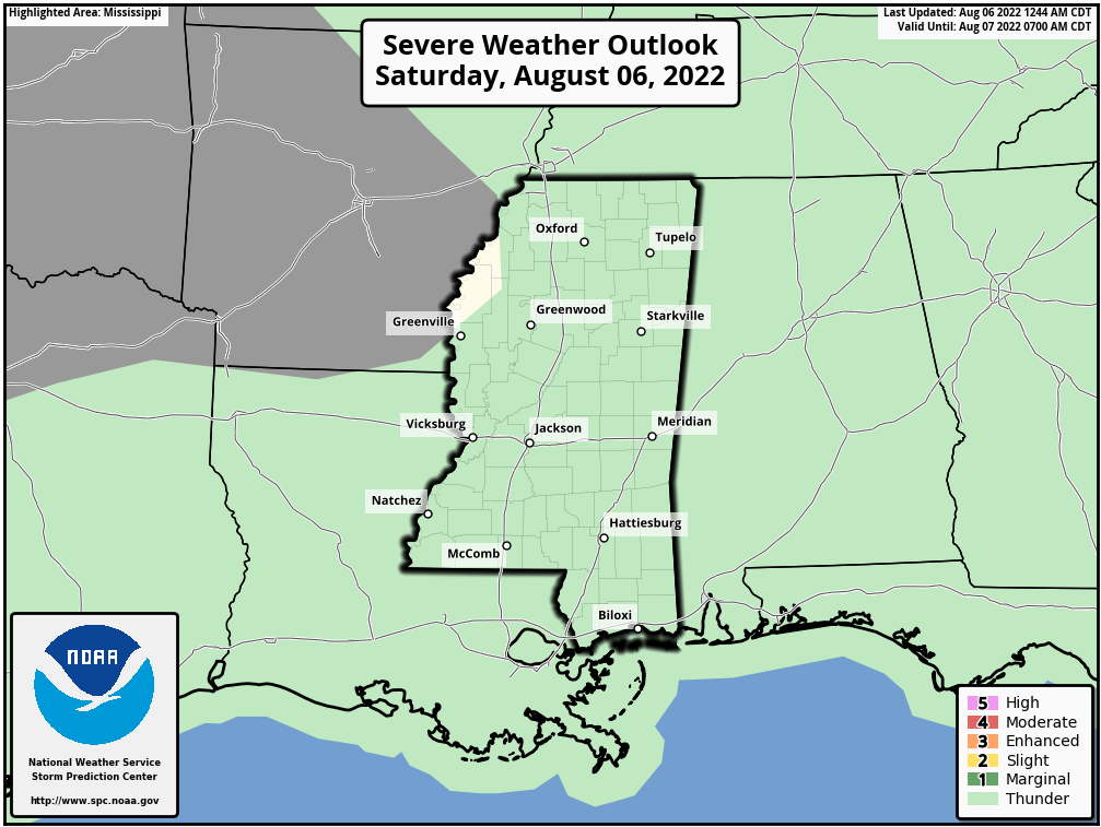 Mississippi Severe Weather Outlook - Day 1