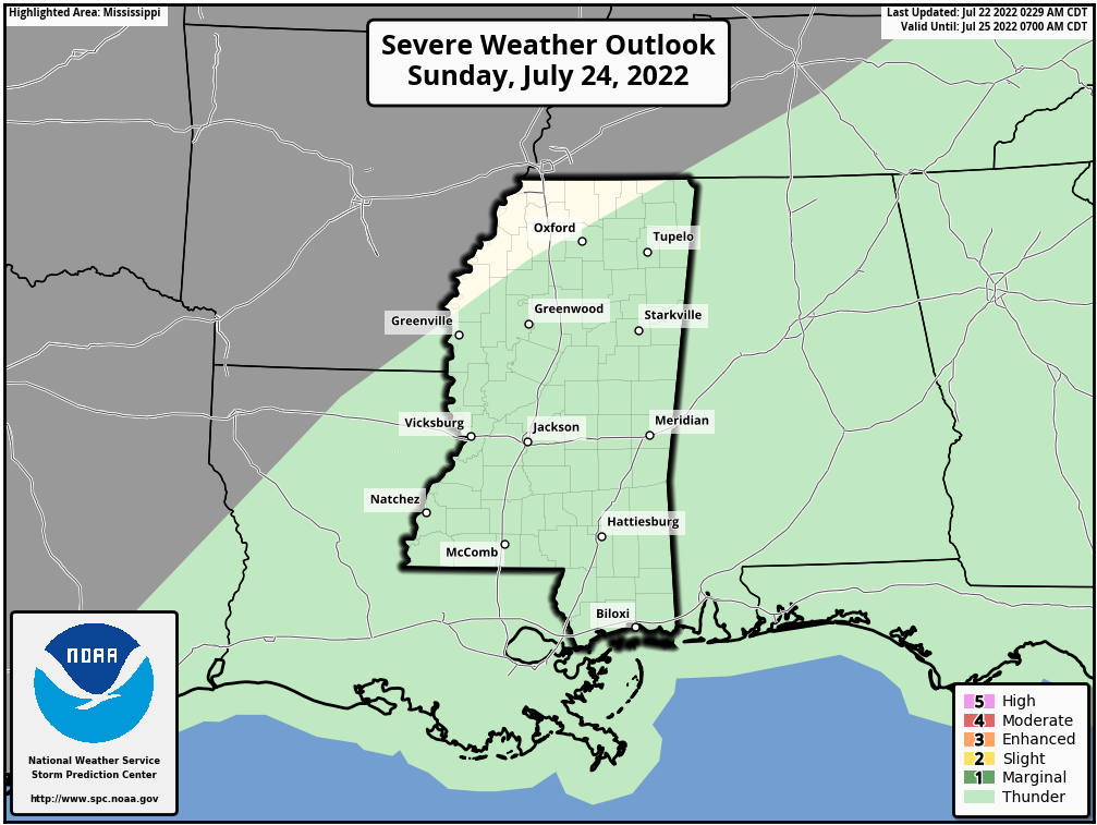 Mississippi Severe Weather Outlook - Day 3