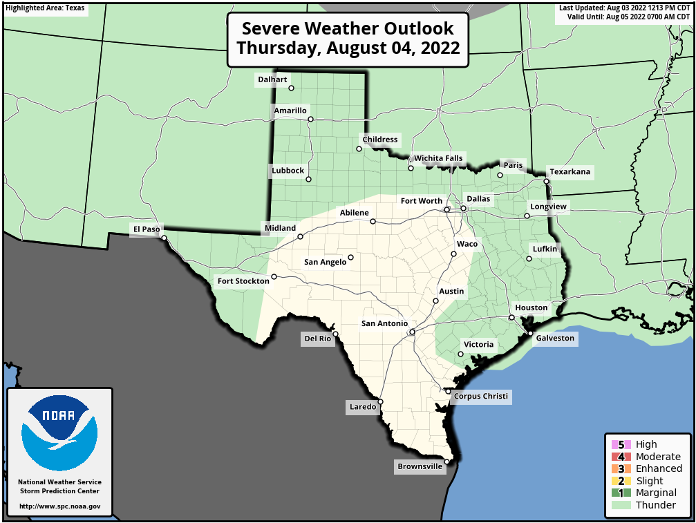 Texas Severe Weather Outlook - Day 2