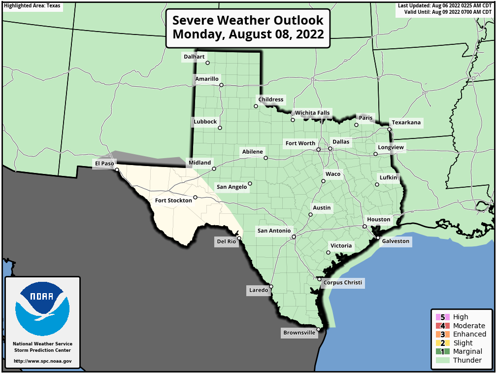 Texas Severe Weather Outlook - Day 3