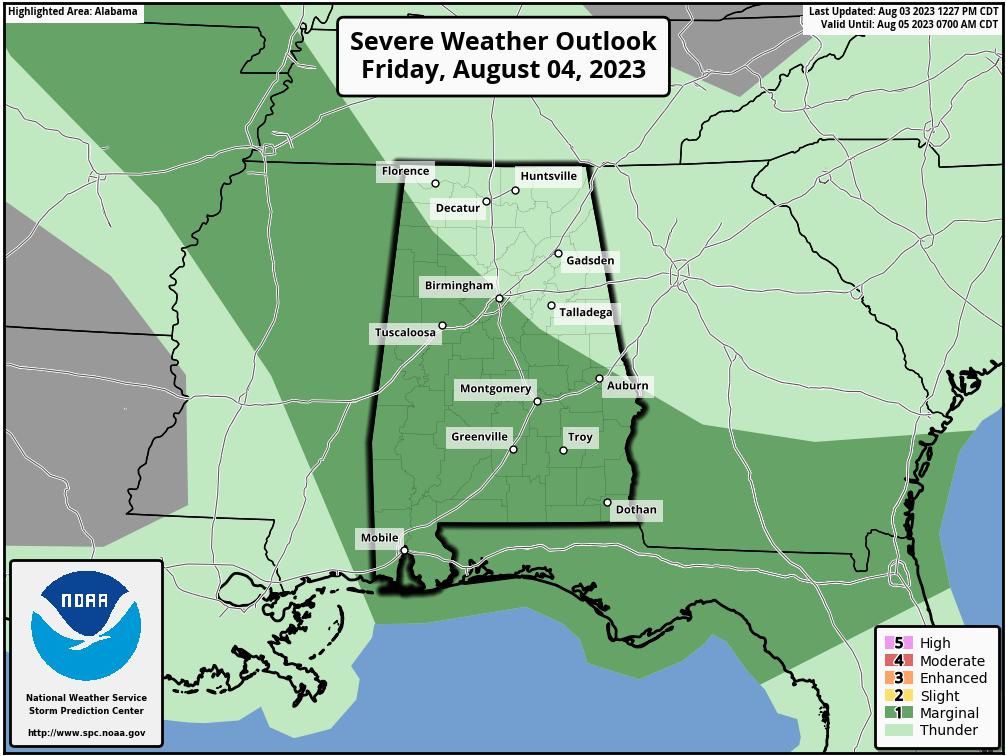 Alabama Day 2 Outlook