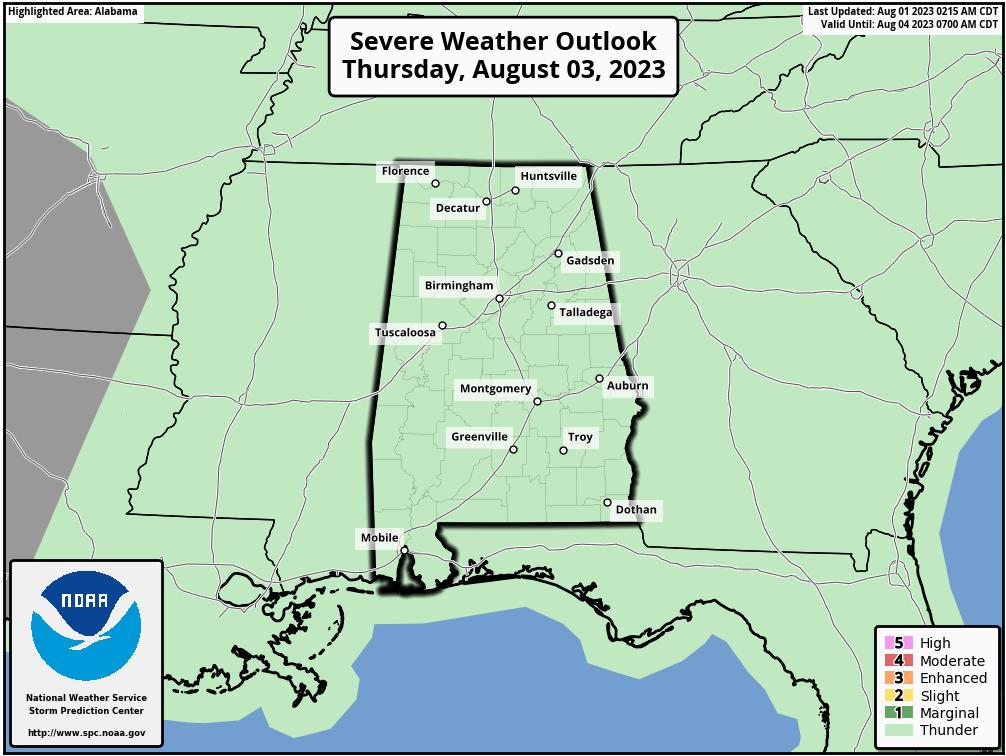 Alabama Day 3 Outlook
