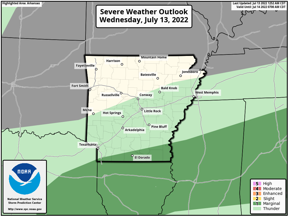 Today's Severe Weather Risk