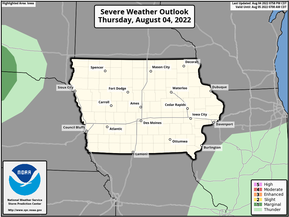 Today's local severe weather outlook