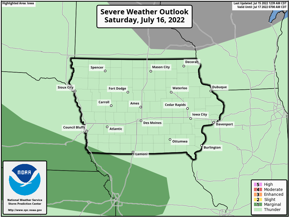 Tomorrow's local severe weather outlook