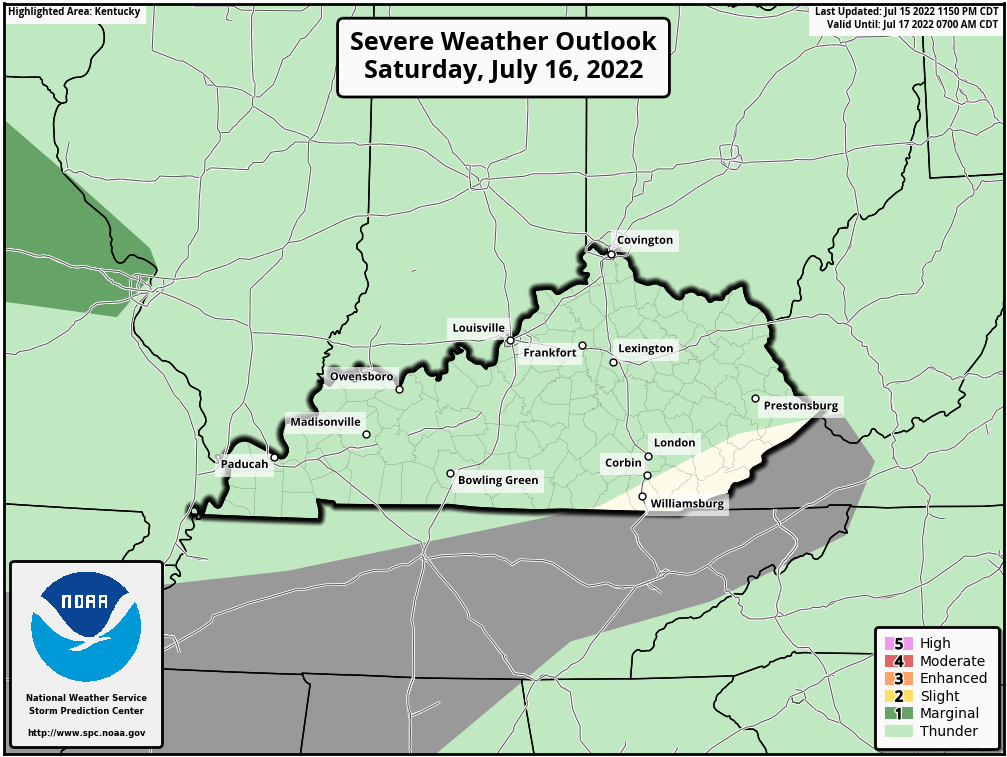SPC KY Outlook