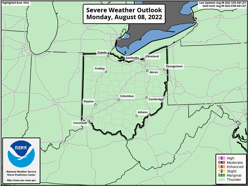Day 1 Ohio Severe Weather Outlook