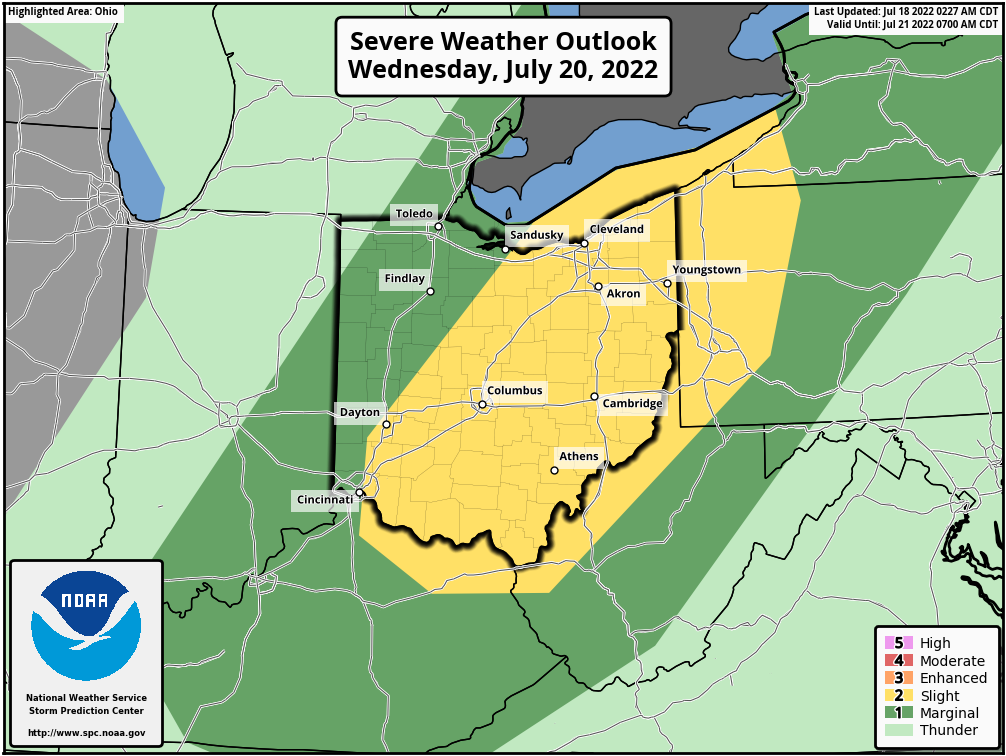 Day 3 Ohio Severe Weather Outlook