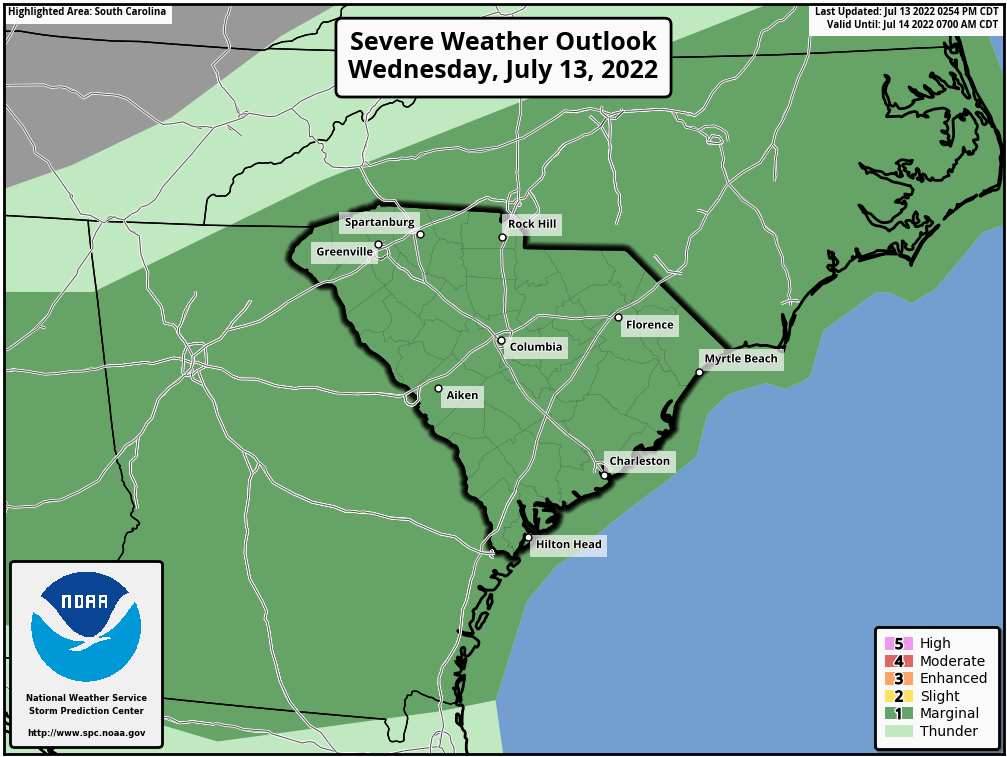 SPC Storm Prediciton for Today Severe Weather Outlook