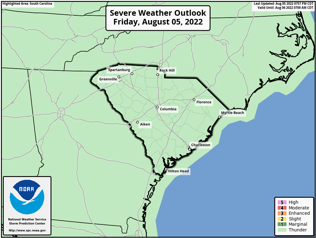 SPC Outlook GSP Upstate South Carolina