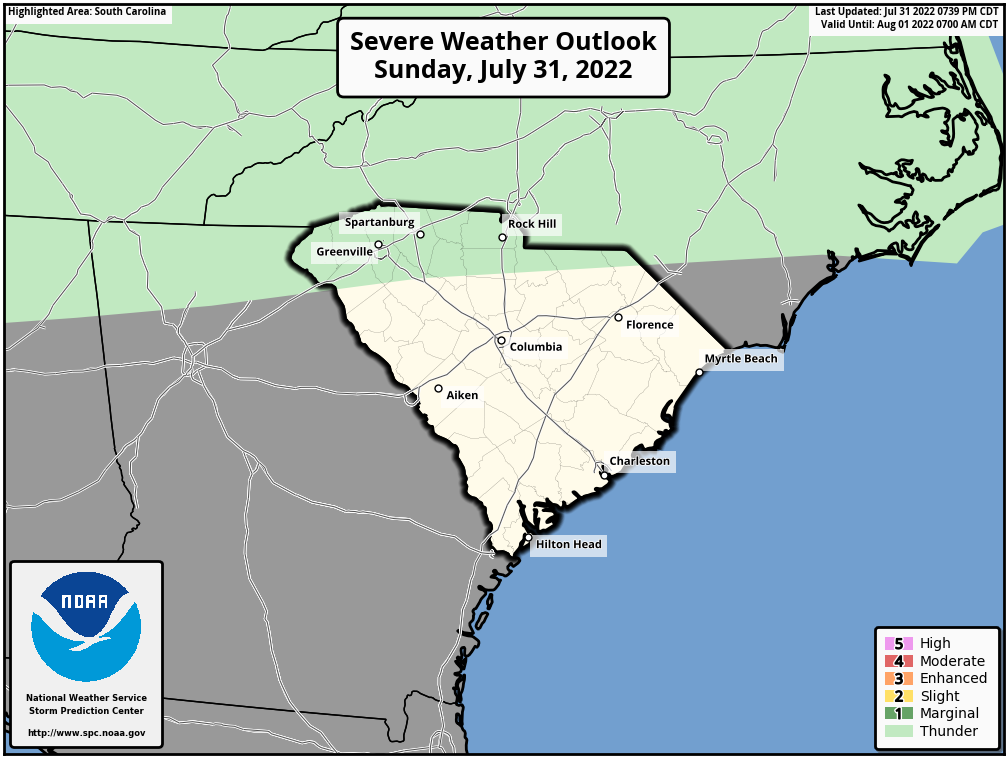 SPC Storm Prediction Severe Weather Outlook