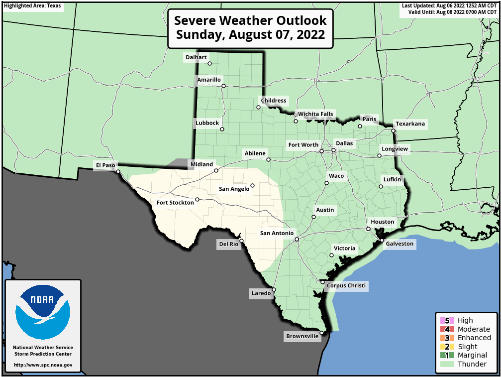 Weather Map Texas Severe Weather Outlook For Texas