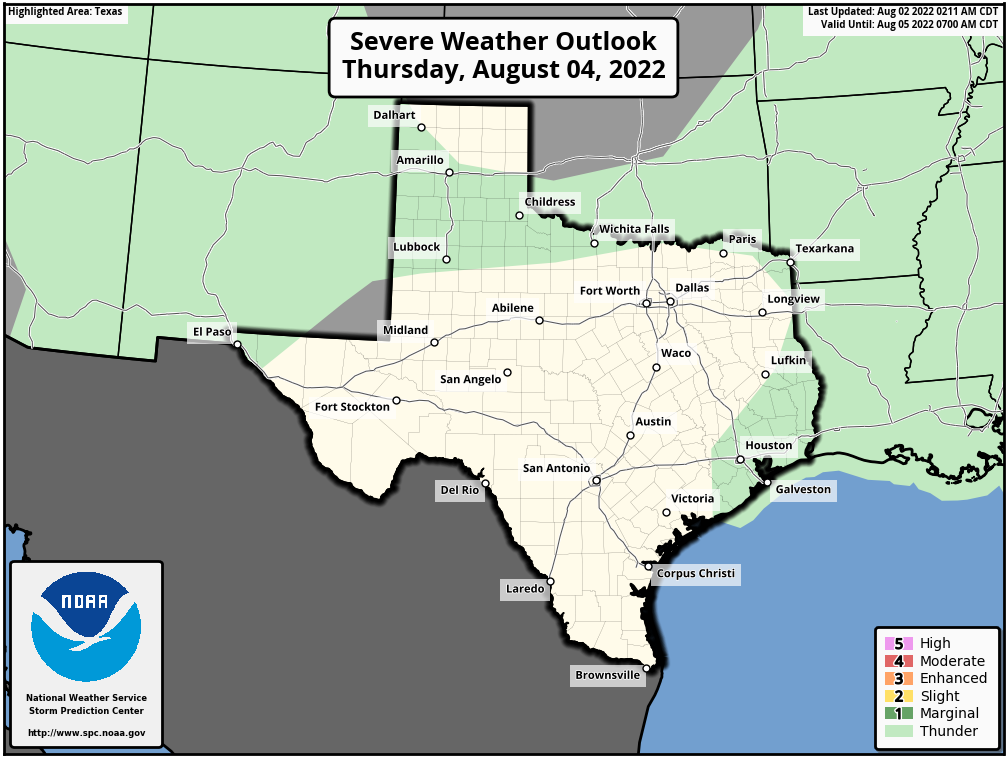 Texas Severe Weather Outlooks