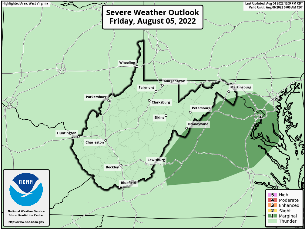 Day 2 West Virginia Severe Weather Outlook