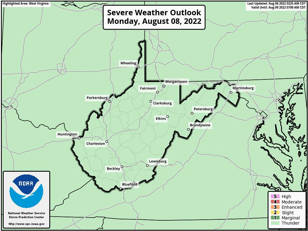 Day 3 West Virginia Severe Weather Outlook