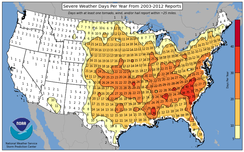 Any Severe Weather Days Per Year